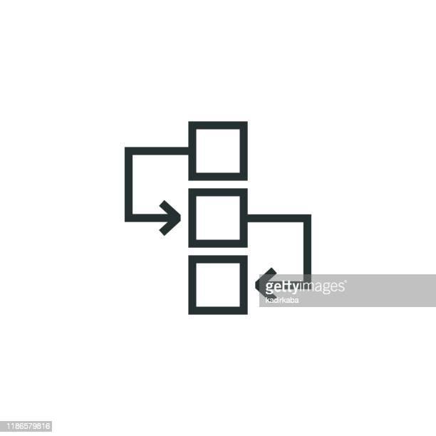workflow line icon - mathematical formula stock illustrations