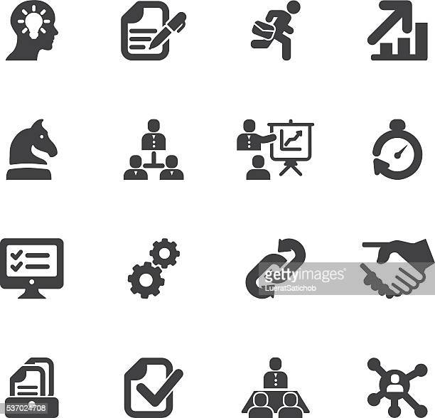 Workflow Silhouette icons | EPS10