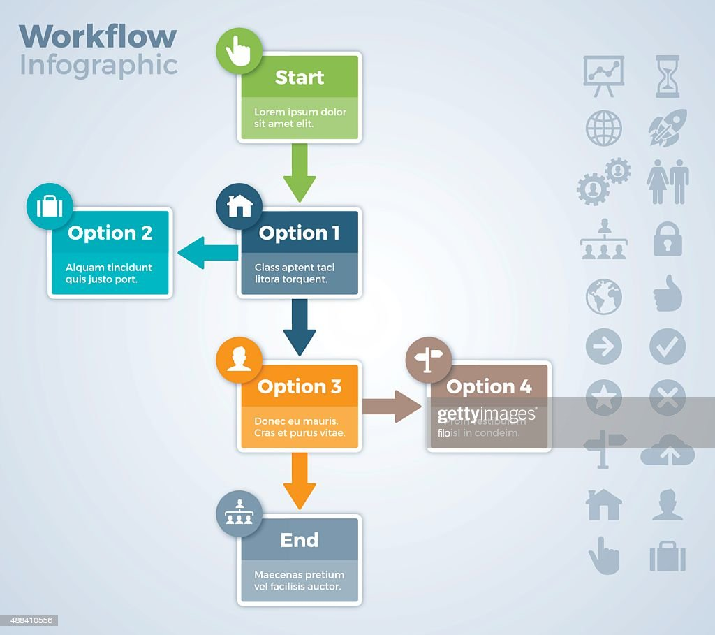 Workflow Steps and Process : stock illustration