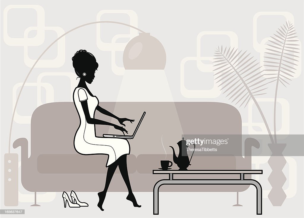 Working at Home : stock illustration