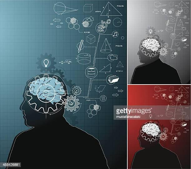 動作脳 - 数式点のイラスト素材/クリップアート素材/マンガ素材/アイコン素材