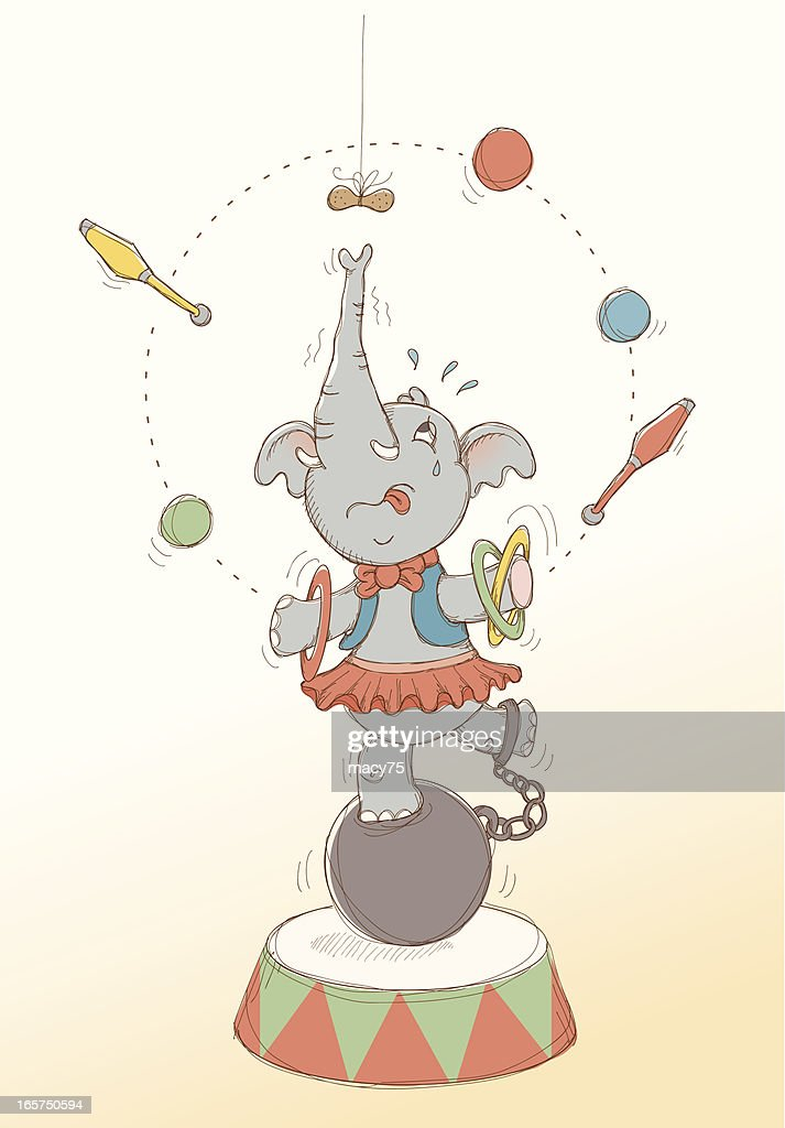 Working for peanuts circus elephant
