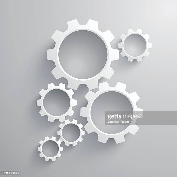 working gear - cog stock illustrations