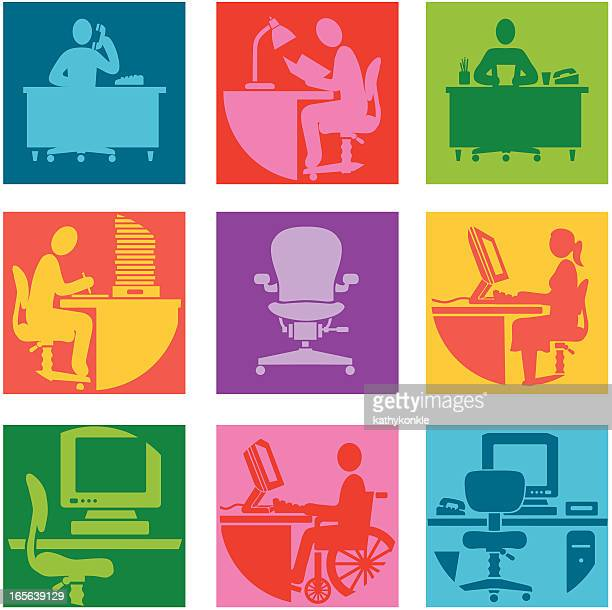 working hard - disability stock illustrations, clip art, cartoons, & icons