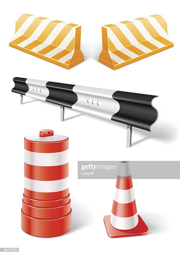 working objects for road repair or construction