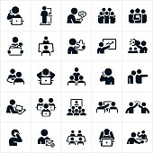 Working Office Culture Icons