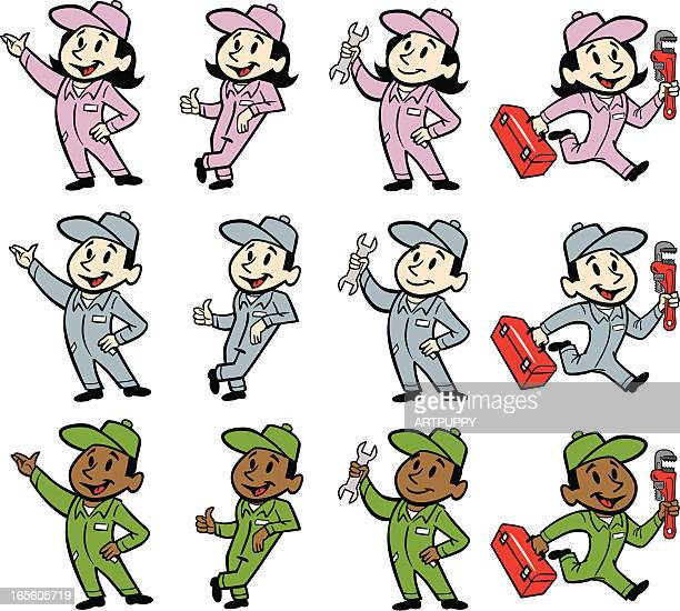 working people - plumber stock illustrations, clip art, cartoons, & icons