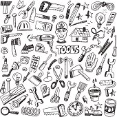 working tools - doodles set