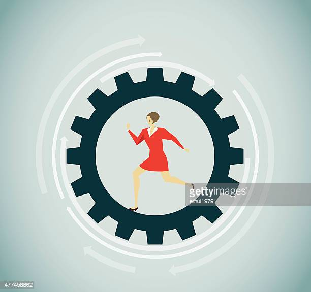 working - stepping stock illustrations, clip art, cartoons, & icons