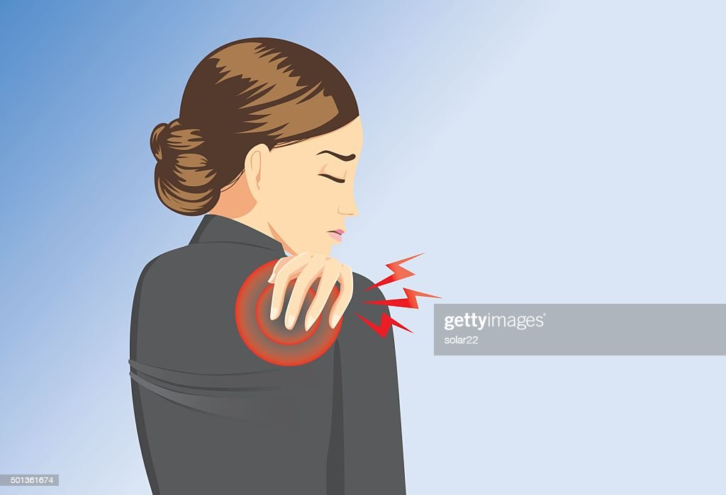 Working woman back pain