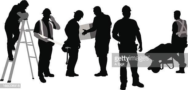 ilustraciones, imágenes clip art, dibujos animados e iconos de stock de funcionamiento - obrero