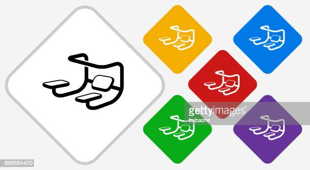 workout color diamond vector icon - leisure facilities stock illustrations, clip art, cartoons, & icons