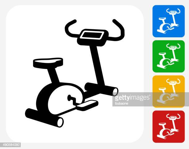Workout Machine Icon Flat Graphic Design