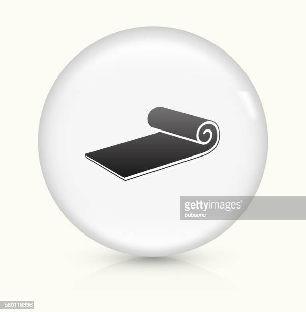Workout Mat icon on white round vector button