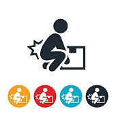 Workplace Back Injury Icon