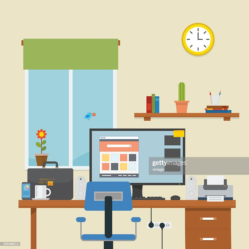 Workplace in a room