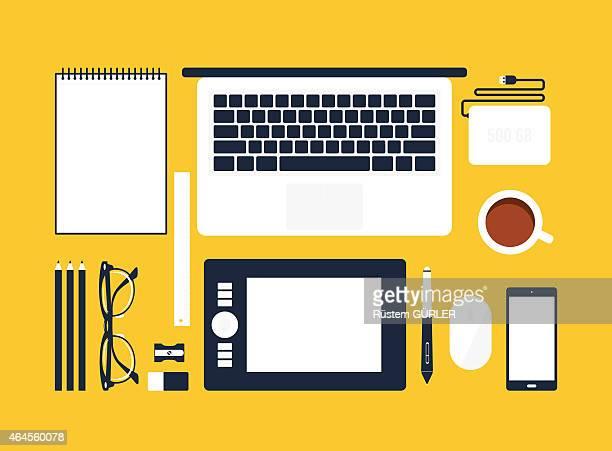 Espace de travail pour Graphiste