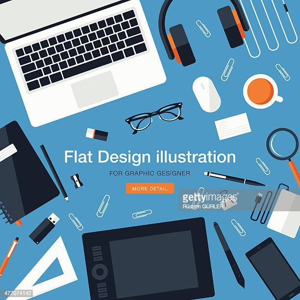 Workspace for graphic designer