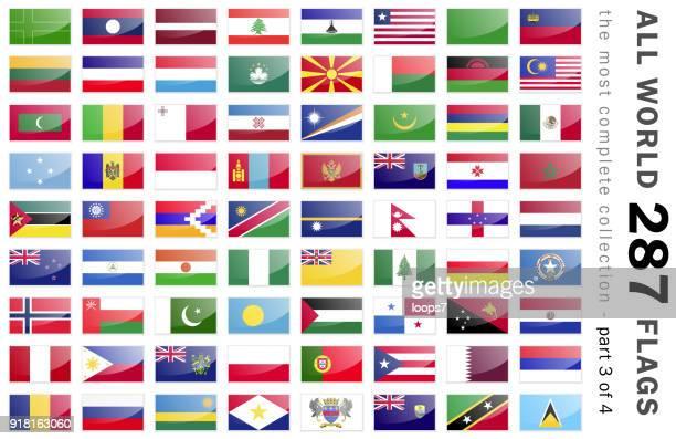 flaggen der welt 287 - teil 3 von 4 - montenegro stock-grafiken, -clipart, -cartoons und -symbole