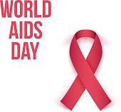 World AIDS Day 1 december 2014. Vector