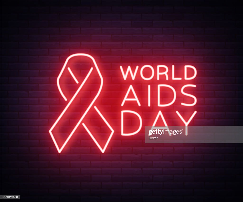 World Aids Day December 1 Red Tape For Hiv Infection With Text