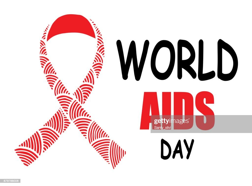 World Aids Day Realistic Red Ribbon Symbol Isolated Vector