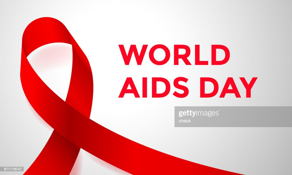 World Aids Day Red Ribbon 1 December Awareness Solidarity Icon