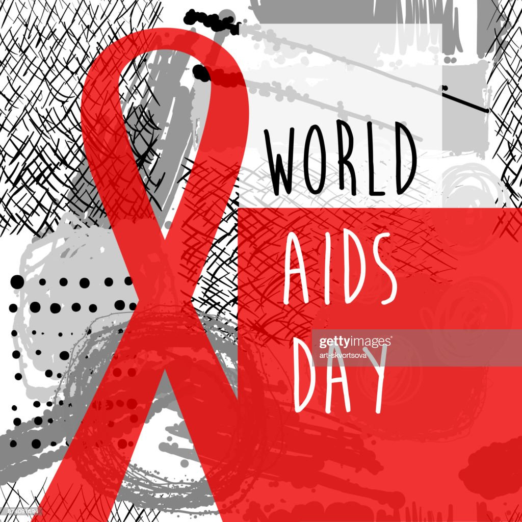 World Aids Day Red Ribbon Web Banner Background 1st December