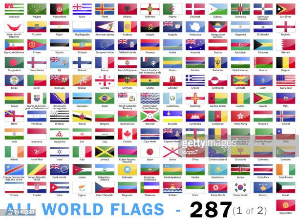 illustrazioni stock, clip art, cartoni animati e icone di tendenza di world all flags - complete collection - 287 items - part 1 of 2 - kenya
