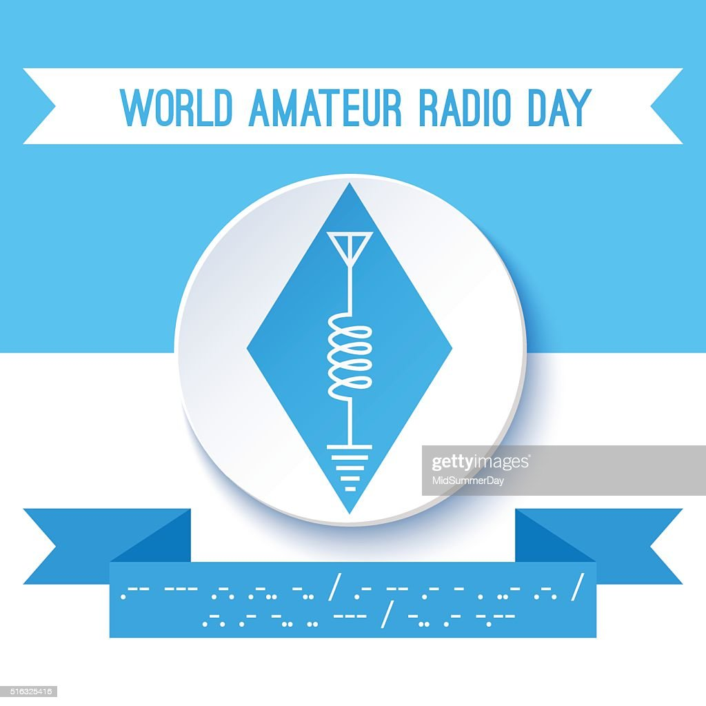 World Amateur Radio Day Ham Symbol Circuit Diagram Vector Art