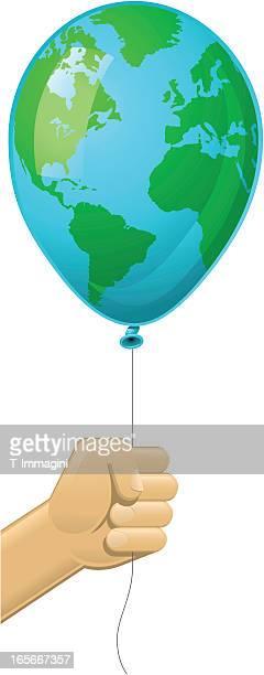 illustrations, cliparts, dessins animés et icônes de world balloon - tenir
