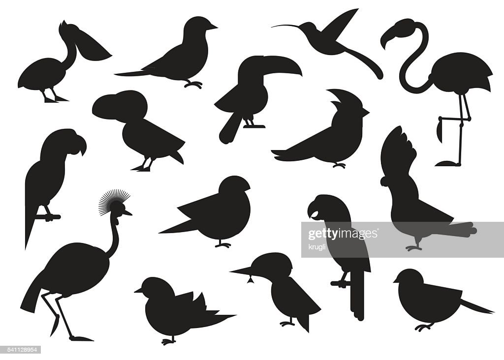 World Birds Outline Icons