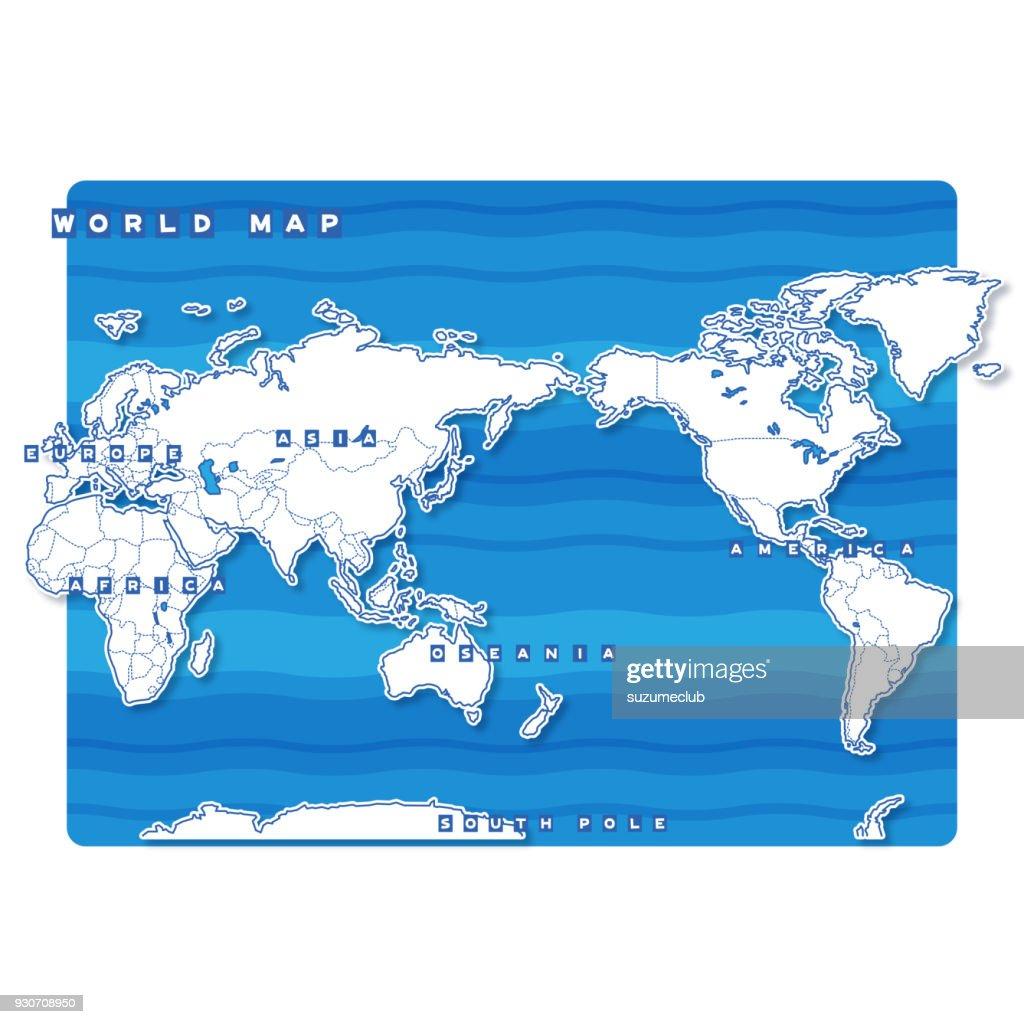 World Blank Map (english)