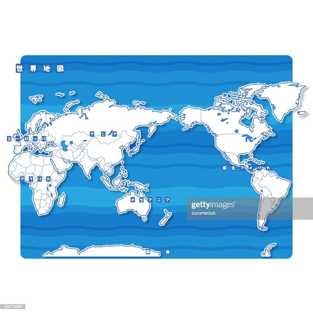 World Blank Map (japanese)