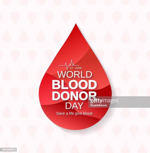 世界献血者デー ドロップ パターン背景。ベクトルの図。 - 献血点のイラスト素材/クリップアート素材/マンガ素材/アイコン素材