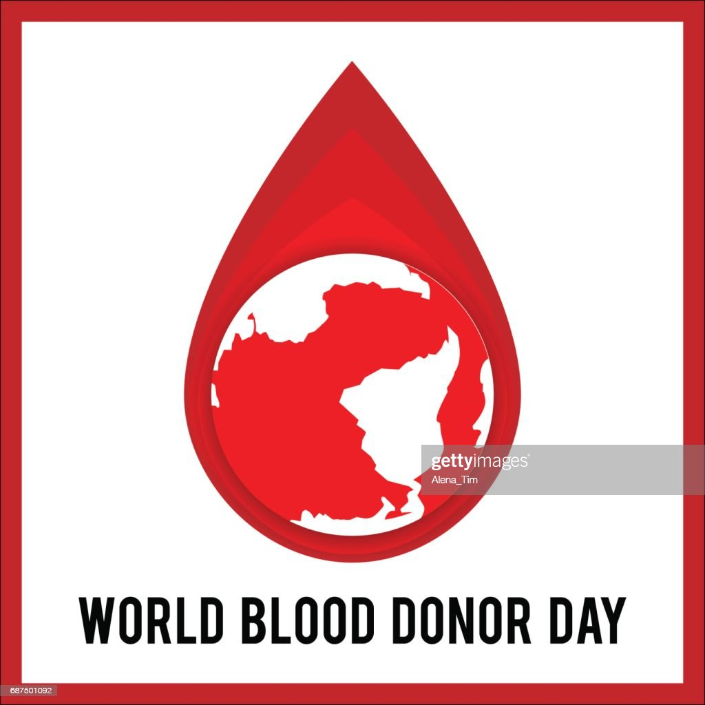 World Blood Donor Day. Vector illustration for holiday. 14 June.