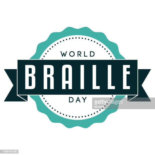 world braille day label - braille stock illustrations, clip art, cartoons, & icons