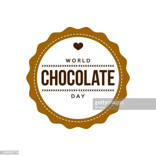 ilustrações, clipart, desenhos animados e ícones de dia mundial de chocolate - comida doce