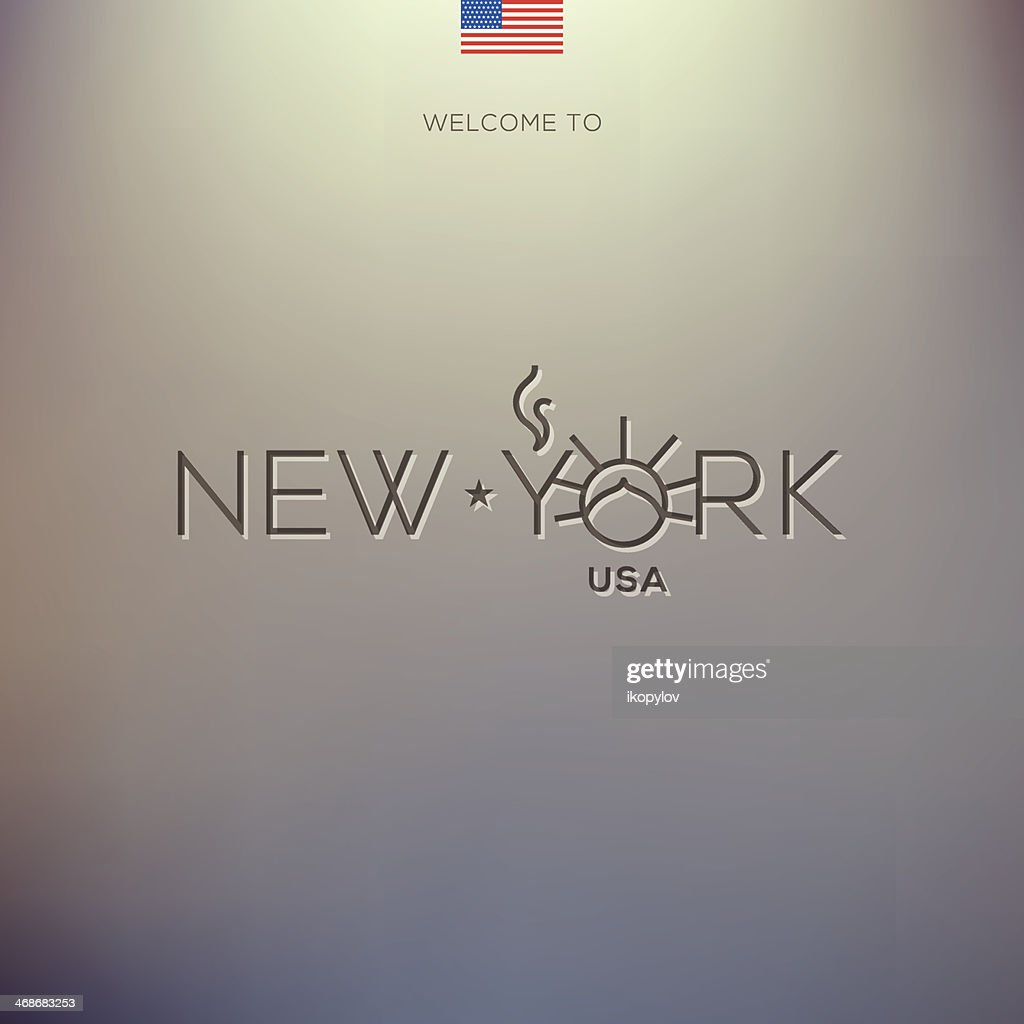 World Cities labels - New York.