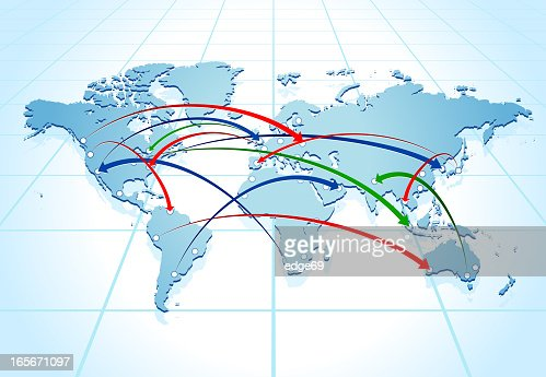 World map connected vector art getty images keywords gumiabroncs Image collections