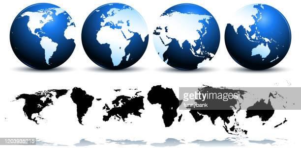 ilustraciones, imágenes clip art, dibujos animados e iconos de stock de continentes mundiales - europa continente