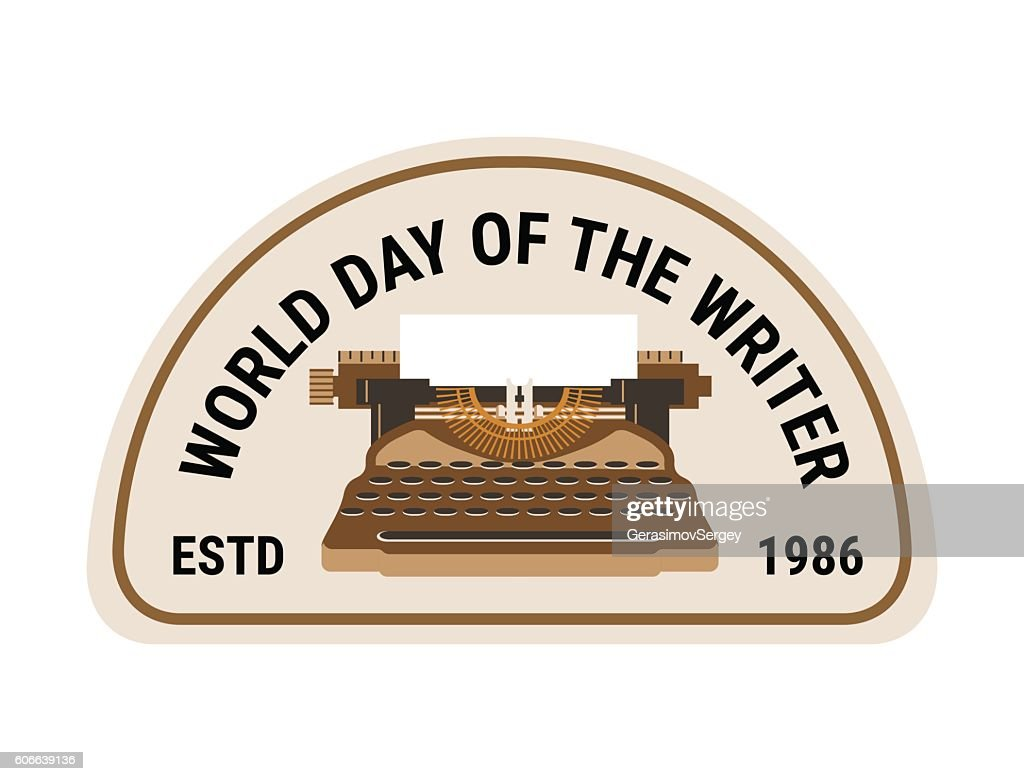 world day of the writer poster