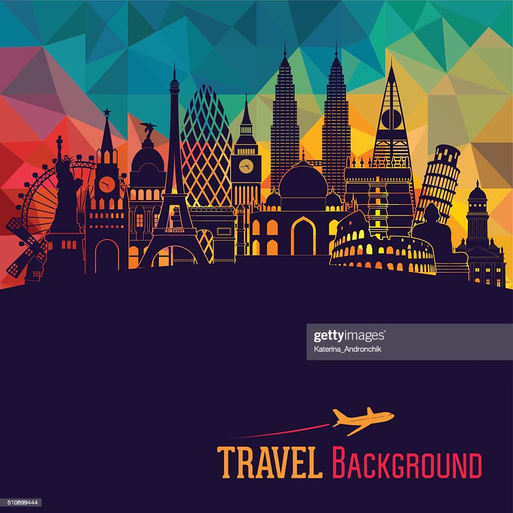 World detailed skyline. Vector illustration