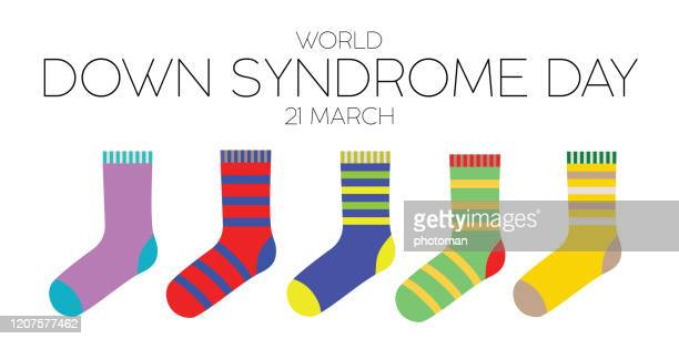 world down syndrome composition. - sock stock illustrations