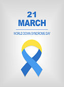World Down Syndrome day card 21 march.