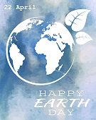 World earth day grunge style
