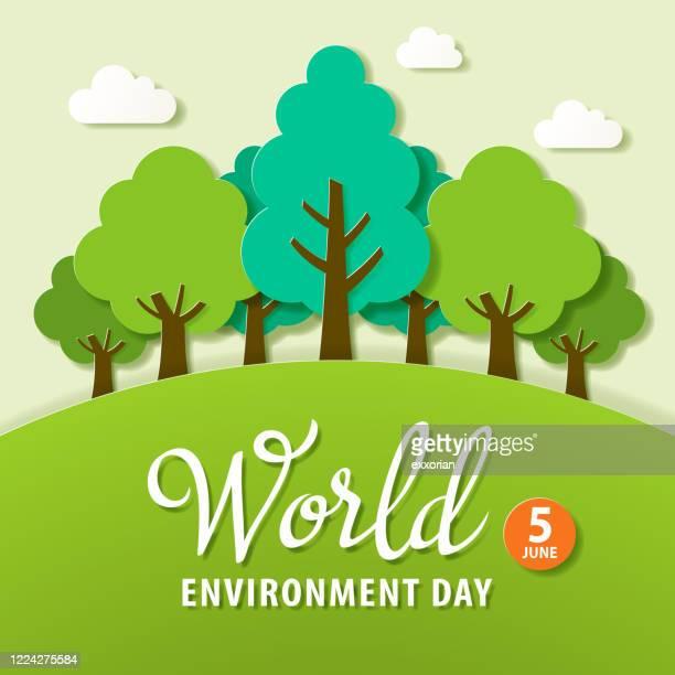 illustrations, cliparts, dessins animés et icônes de reboisement de la journée mondiale de l'environnement - juin