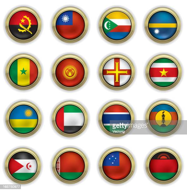 world flag buttons - samoa stock illustrations, clip art, cartoons, & icons