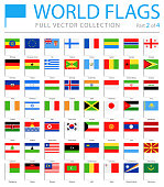 World Flag Pins - Vector Flat Icons - Part 2 of 4