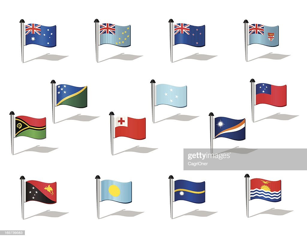 World Flags: Oceania : stock illustration